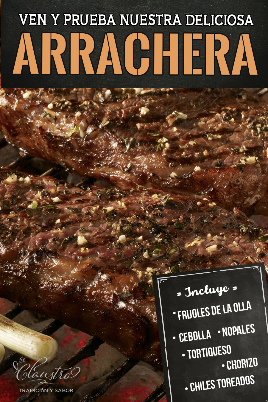 Arracheras estilo Claustro